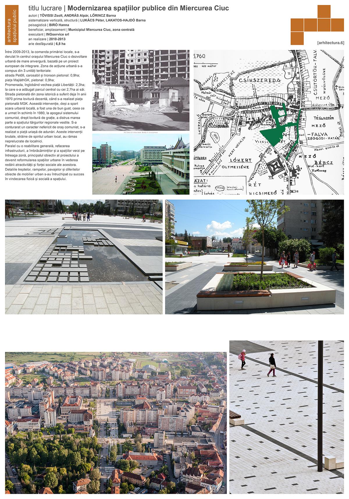 Plant Studio - Modernizarea spatiilor publice urbane din Miercurea Ciuc - a
