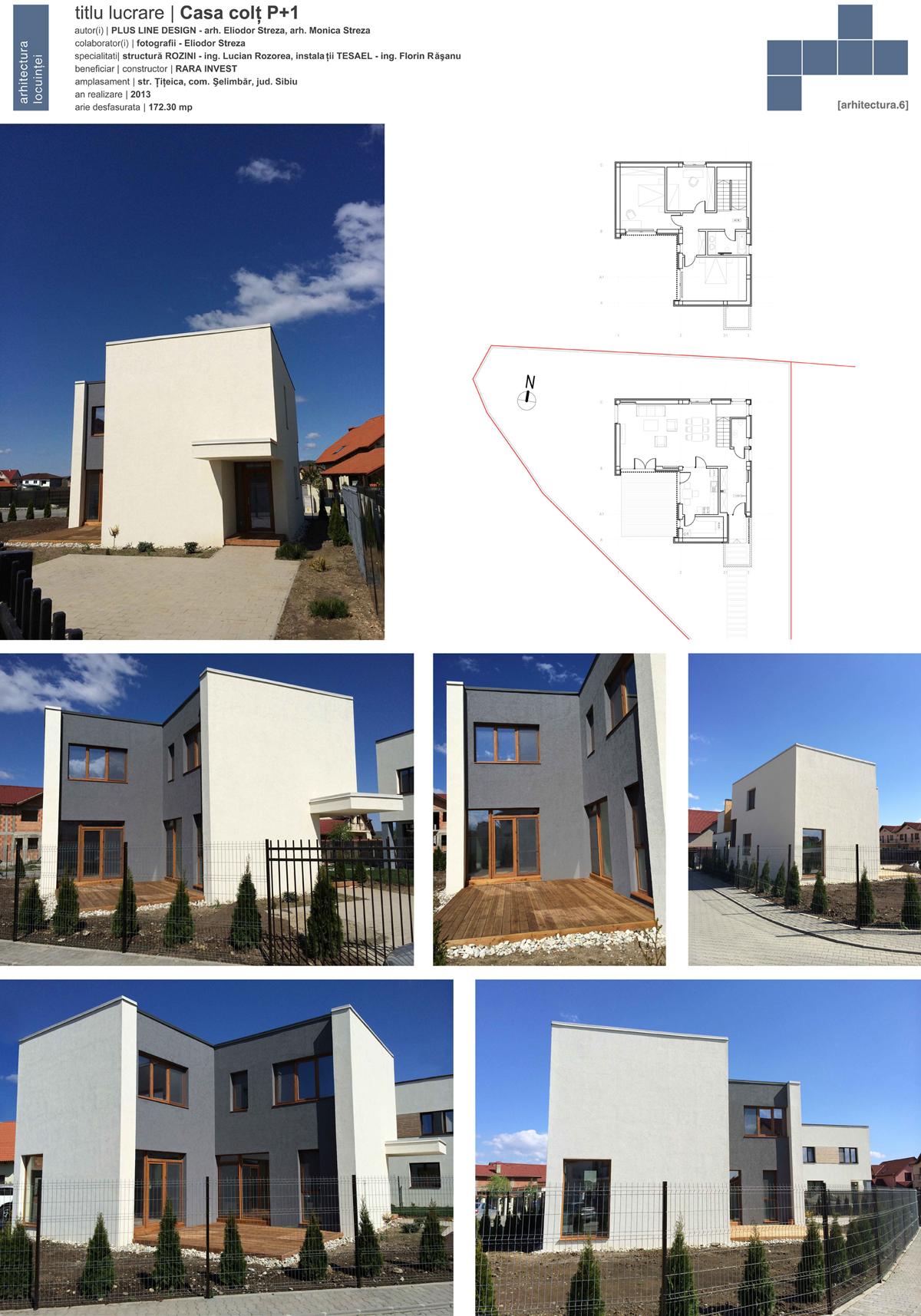 PlusLineDesign - Locuinte Casa colt P+1